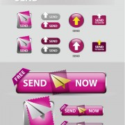 Link toElements of creative web button design vector material 24