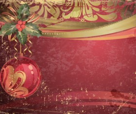 Garbage vintage Christmas vector backgrounds 01