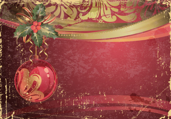 Garbage vintage Christmas vector backgrounds 01 - Vector ...