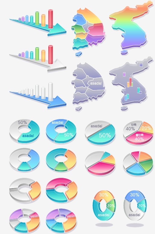 Vector infographics design elements set