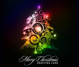 Paper cut Christmas tree design vector 01