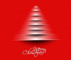 Paper cut Christmas tree design vector 03