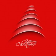 Link toPaper cut christmas tree design vector 04