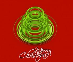 Paper cut Christmas tree design vector 08