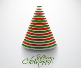 Paper cut Christmas tree design vector 16