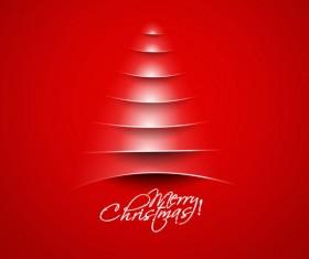 Paper cut Christmas tree design vector 17