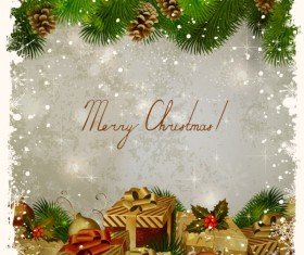 Garbage vintage Christmas vector backgrounds 04