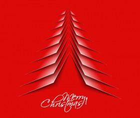 Paper cut Christmas tree design vector 22
