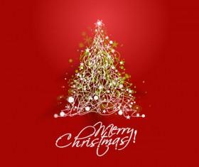 Paper cut Christmas tree design vector 24