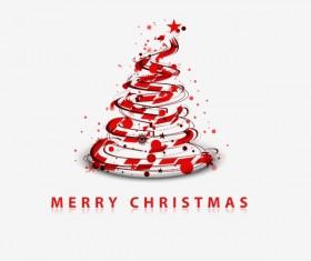 Paper cut Christmas tree design vector 25