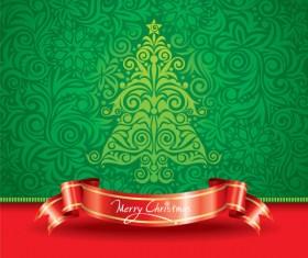 Paper cut Christmas tree design vector 26