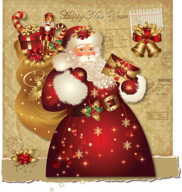 Ornate greeting card of santa claus vector graphics 01 free download ornate greeting card of santa claus vector graphics 01 m4hsunfo