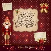 Link toOrnate greeting card of santa claus vector graphics 03