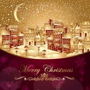 Link toOrnate greeting card of santa claus vector graphics 04