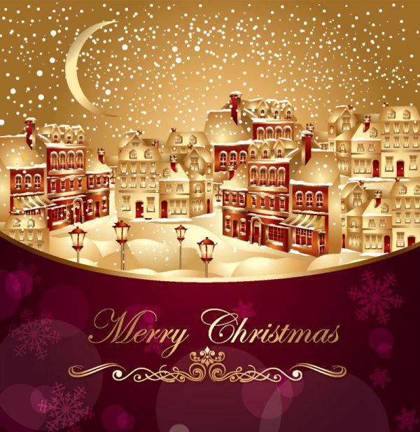 ornate greeting card of Santa Claus vector graphics 04