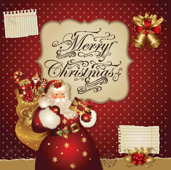 Ornate greeting card of santa claus vector graphics 05 free download ornate greeting card of santa claus vector graphics 05 m4hsunfo
