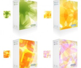 Colorful Packaging box cover design vector set 01
