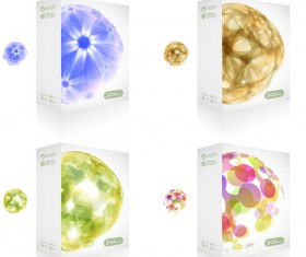 Colorful Packaging box cover design vector set 03