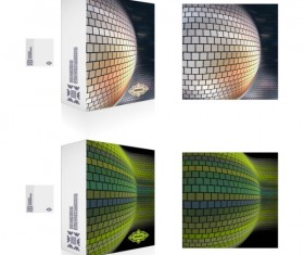 Colorful Packaging box cover design vector set 05