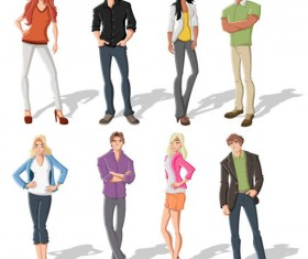 Different cartoon Boys and girls vector 01