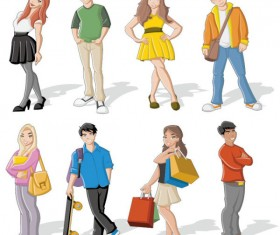 Different cartoon Boys and girls vector 02
