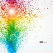 Link toColorful object splash backgrounds vector 02