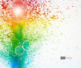 Colorful Object splash backgrounds vector 02