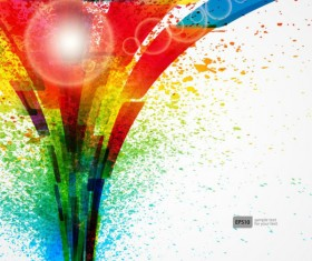 Colorful Object splash backgrounds vector 05
