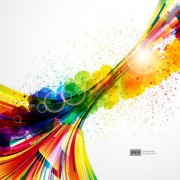 Link toColorful object splash backgrounds vector 04