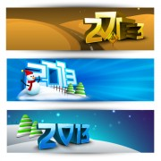 Link to2013 happy new year theme banner vector 01