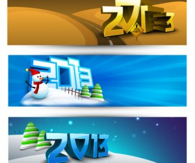 2013 Happy New Year theme banner vector 01