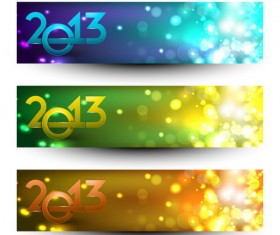 2013 Happy New Year theme banner vector 02