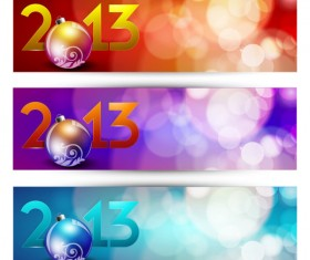 2013 Happy New Year theme banner vector 03