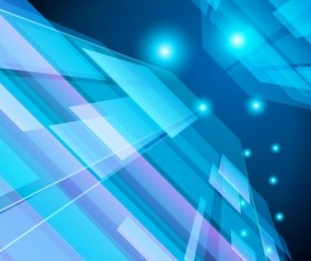 Cubes blue vector background