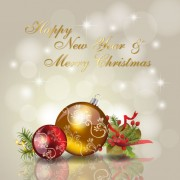Link toChristmas ornaments with greeting card background vector 03