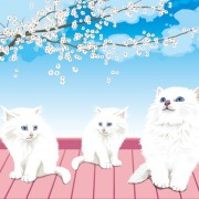 Link toCute white pussycat design vector