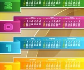 Special of 2013 calendar vector graphics 01