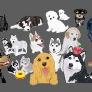 Link toVarious cute dog element vector 02