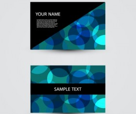 Modern design Business Cards vector set 03