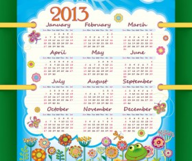 Special of 2013 calendar vector graphics 02