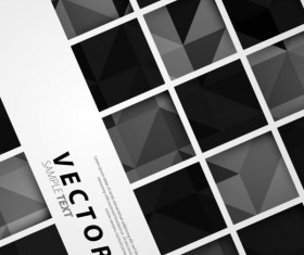 Black and white Squares concept backgrounds vector 01