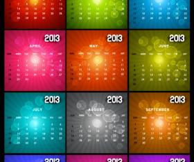 Special of 2013 calendar vector graphics 03
