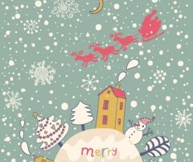 Cute Santa Claus cards design vector 01