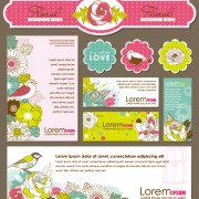 Link toSet of corporate identity kit cover with flower vector 02