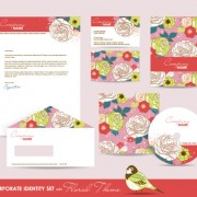 Link toSet of corporate identity kit cover with flower vector 04