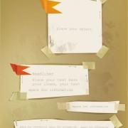 Link toOld labels paper design vector material 04