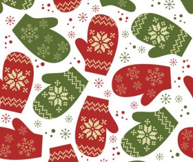 Different Christmas elements pattern vector 02