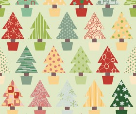 Different Christmas elements pattern vector 04