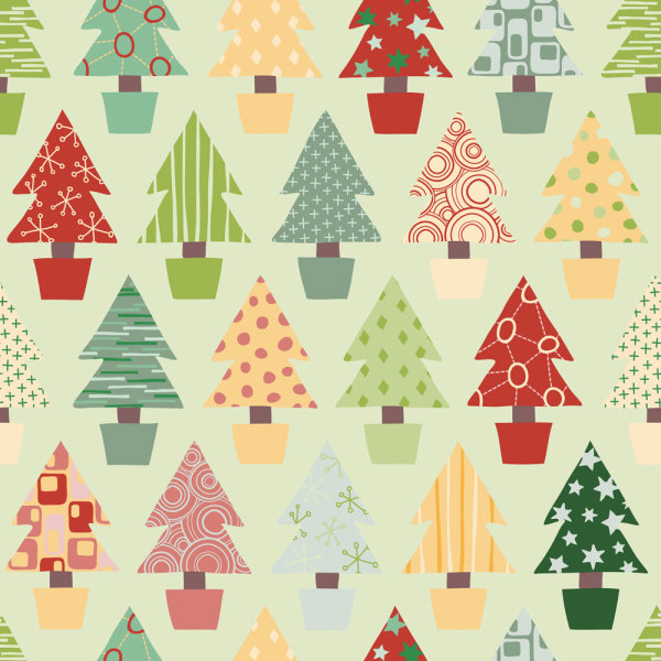 Diffe Christmas Elements Pattern Vector 04