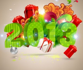 Creative 2013 Christmas design art vector 02